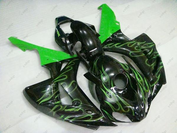 Body Kits CBR1000 RR 2007 Full Body Kits for Honda Cbr1000 RR 06 Black Green Flame ABS Fairing Fireblade 07 2006 - 2007