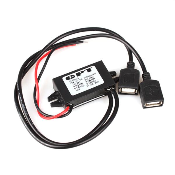 Al por mayor- JunHom 12V a 5V USB DC-DC Buck Convertidor Car Power regulador de la fuente