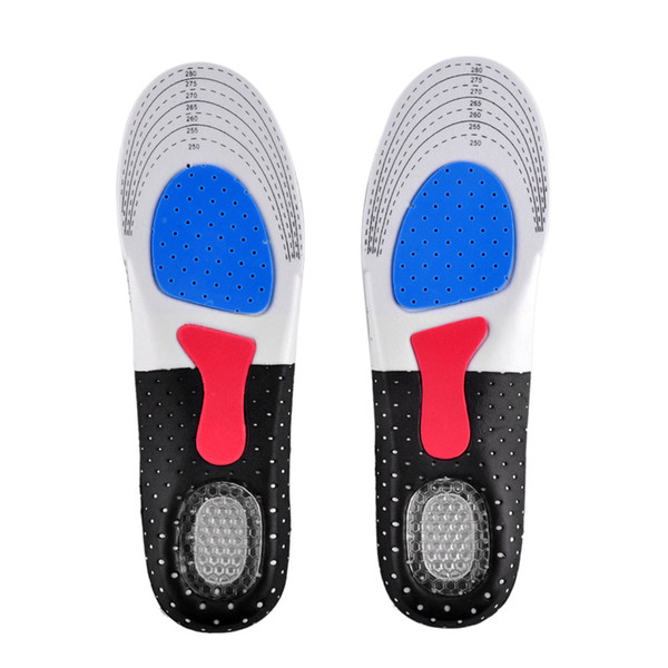 Unisex Orthotic Arch Support Shoe Pad Sport Running Gel Insoles Insert Cushion for Men Women 35-40 size 40-46 size to choose 0613027