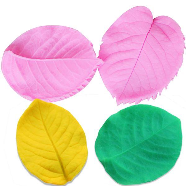 Neue Arrivel Flower-Making Gum Paste Pfingstrose Rose Floral Blütenblatt Blatt Veiner Silikon Formen Fondant Kuchen Dekorieren Tools DIY