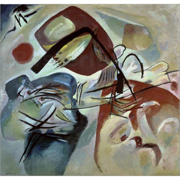 Alta qualidade Wassily Kandinsky artes com pintura a arco pintado à mão pinturas a óleo preto grande lona