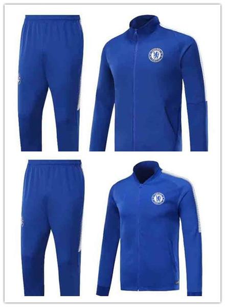 super popular 5b52f f2ccd 2019 2017 2018 Chelsea Soccer Jersey Training Wear 17 18 HAZARD HOME BLUE  KANTE Morata FABREGAS WILLIAN PEDRO DAVID LUIZ Football Jackets From  Xinyi5, ...