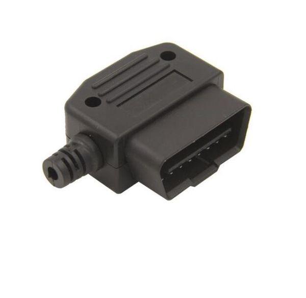 Wholesale- OBD 2 Connector Plug 16 Pin OBD II OBD 2 Diagnostic Male Terminal Connector Plug DIY Shell Adapter