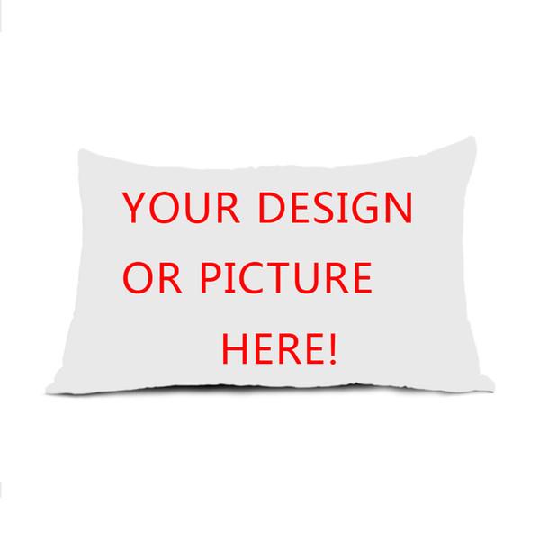 Großhandels-neues personifiziertes kundenspezifisches Logo-Entwurf Ihr eigenes Foto-Rechteck mit Reißverschluss Kissenbezug Throw Pillow Case Twin Seiten gedruckt