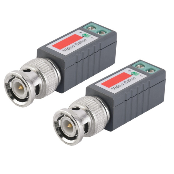 2pcs Camera CCTV Coax CAT5 To BNC Male Video Passive Balun UTP Transceiver Connector Passive Transceivers