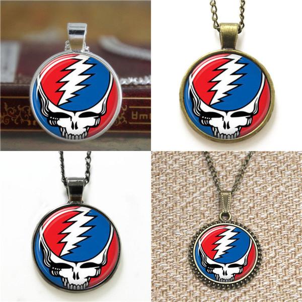 10 stücke Die Grateful Dead ASD2 Glas Foto Halskette schlüsselanhänger lesezeichen manschettenknopf ohrring armband