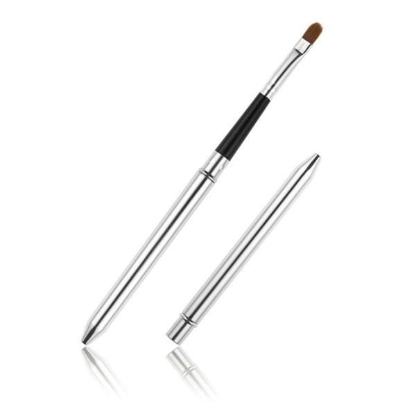 Wholesale High Quality Professional Make Up Tool Portable Makeup Retractable Cosmetic Eyeshadow Lipstick Gloss Lip Brush