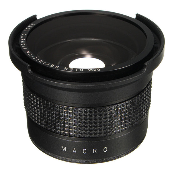 best selling Freeshippig 0.35X Super Wide Angle Fisheye Macro Lens 58mm For Canon EOS 700D 650D 600D 550D 1100D 1200D 760D 70D Rebel T6i T5i With 18-55mm