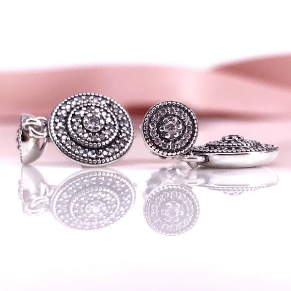 Nueva. Un par de cubo blanco pendientes de perla de cristal con 925 Ganchos De Plata Maciza