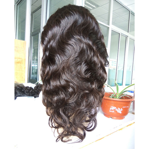 Selling brazilian virgin human hair full lace body curl with natural hairline female hair lace front wig in stock