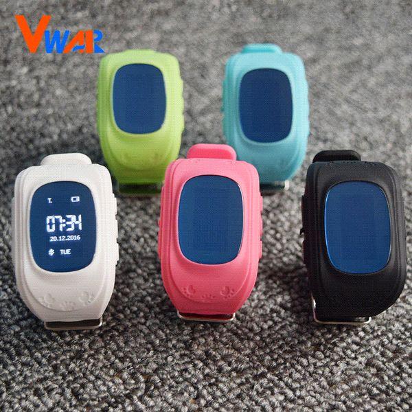 6 Colors Vwar Original Q50 Smart Phone Watch Children Kid Wristwatch G36 Q50 GSM GPRS GPS Locator Tracker Anti-Lost Smartwatch