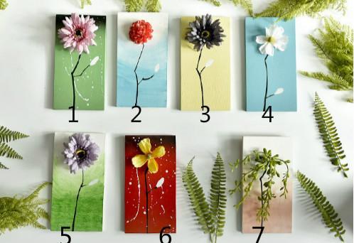 Nuovo stile vintage in legno muro dipinto a mano disegno con fiori artificiali in legno per la casa deocration