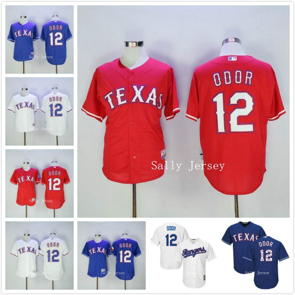 774762540 ... Men Texas Rangers Cool Base 12 Rougned Odor Baseball Jersey 100%  Stitched Gray White Red ...