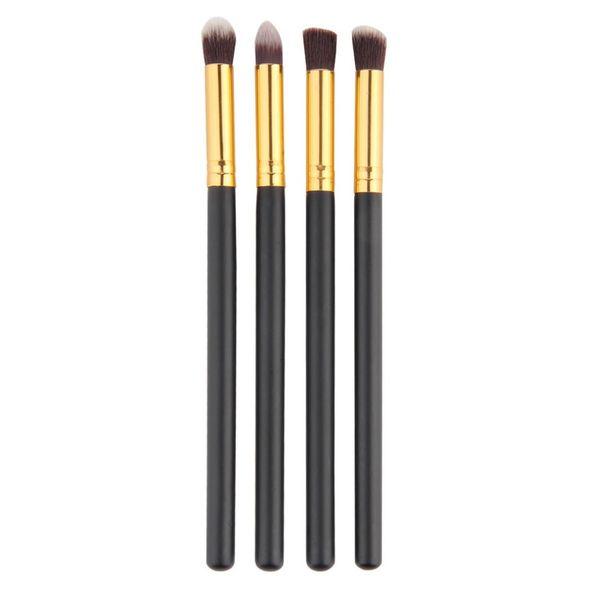 Wholesale- 4pcs/set Professional Eye brushes set eyeshadow Foundation Mascara Blending Pencil brush Makeup tool Cosmetic Black Popular Sale