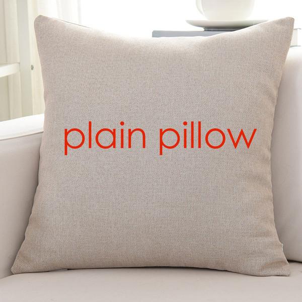 100pcs Plain Flaxen Color Blank Linen Cushion Cover 85g Pillow Case Wholesale Provide Pattern Custom