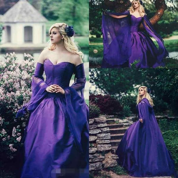Elegant Purple Ball Gown Evening Dresses Sweetheart Princess Formal ...
