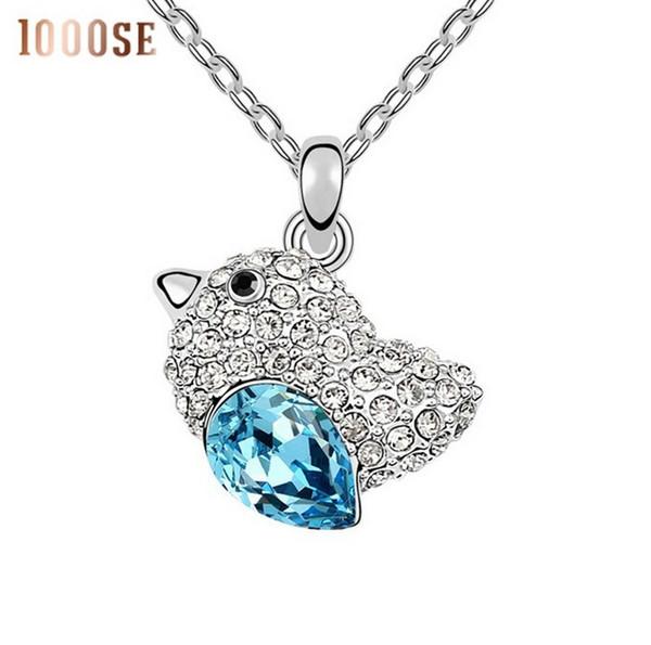 2017 new A fashion jewelry using SWAROVSKI Elements Crystal Necklace love birds wholesale trade sale