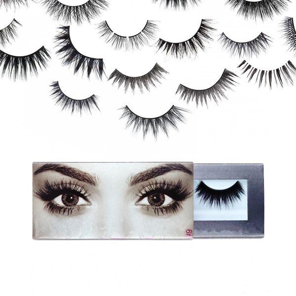 Hot Selling New False Eyelashes 20 types boxed Best Handmade 3D Eye Lash Extensions Natural Synthetic Eyelash Fibers Makeup Free Shipping