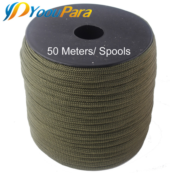 252 Colors 50 meters Paracord 550 Paracorde Rope Cuerda Escalada Mil Spec Type III 7Strand Parachute Outdoor Campling Survival Purchases