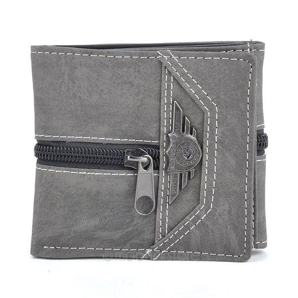 All'ingrosso-Uomo Canvas Mens Portafogli Porta carte di credito di alta qualità Portafoglio multi tasche per le borse di marca Design semplice maschile