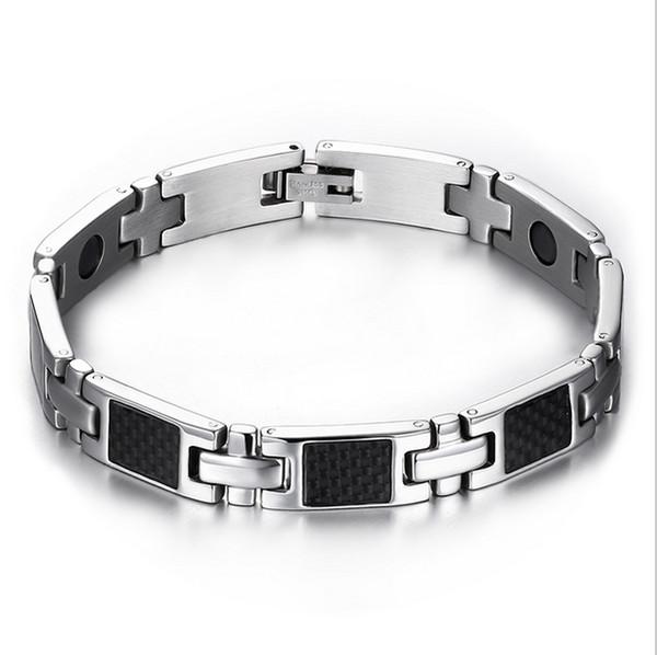 health care carbon fiber hand bracelets bangles men magnetic bracelets&bangles for men jewelry SBRM-057