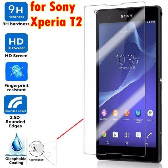For Sony Tempered Glass Screen Protector For Iphone 7 6S Plus 5S For Sony Xperia T2 Ultra X XA XZ XZS XA1