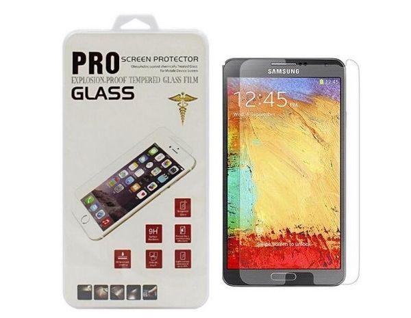 Protectores de pantalla de vidrio templado para samsung galaxy note 2, nota 3, s3 mini, s4 mini, s5 mini, A8, On5, On7 y Pro Edition con PC Caja para minoristas