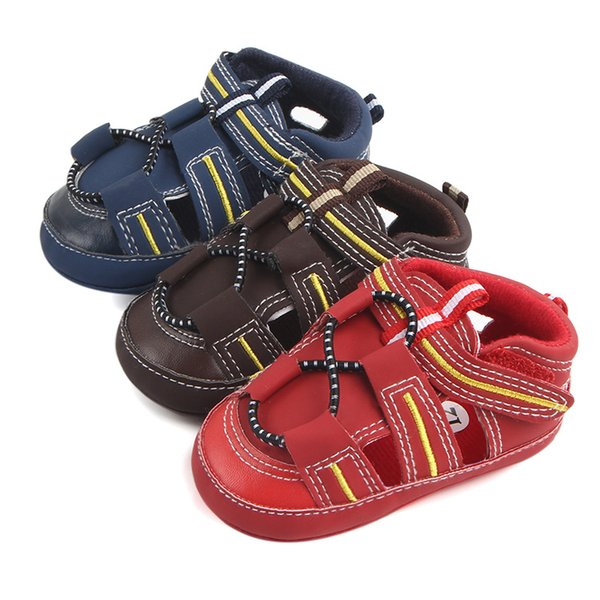 Baby Moccasins Soft Sole PU Leather First Walker Shoes Baby Newborn shoes Non-slip Toddler Shoes Kids Sandals