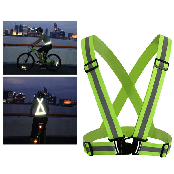 top popular Safety Gear Reflective Vest Clothing High Visibility Day And Night Adjustable & Elastic Strip Vest Jacket For Running Cycling Outdoor 2020