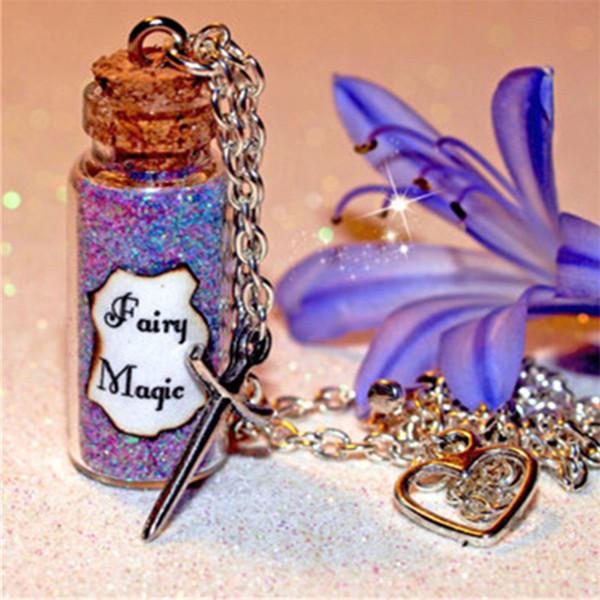 12 adet Peri Sihirli Kolye ve Gerçeklik Kılıç Charm kalp charm Uyku Güzellik charm kolye