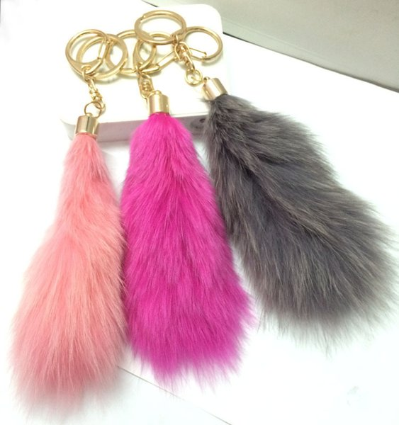 Fur fur ball pendant large fox's tail hair ornaments jewelry bag pendant special offer car key