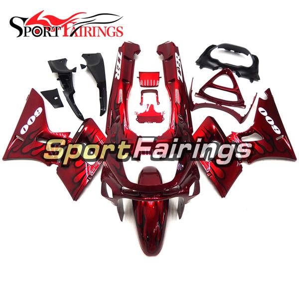 Injection Fairings For Kawasaki ZZR600 ZZR-400 93 94 95 96 97 07 ABS Plastics Motorcycle Fairing Kit Bodywork Red Black Flames Hulls