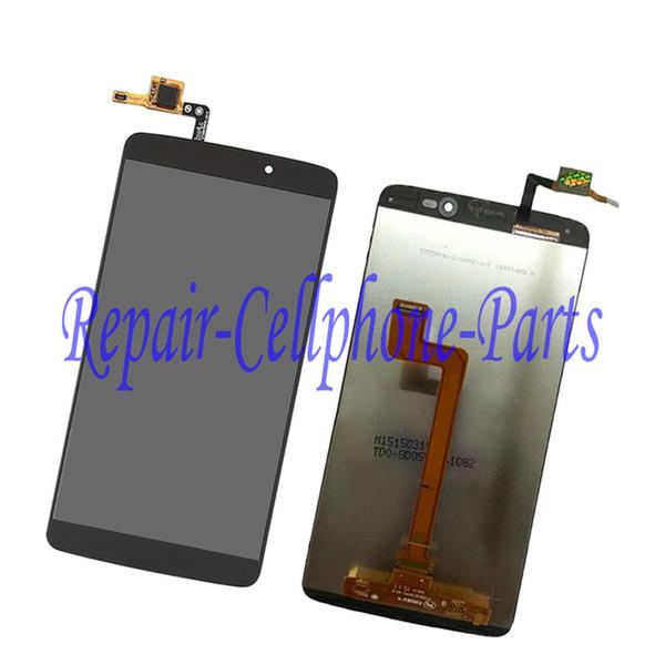 Wholesale-5.5 '' Schwarzes ursprüngliches neues volles LCD DIsplay + Touch Screen Analog-Digital wandler Versammlung für Alcatel One Touch Idol 3 OT6045 6045 6045Y 6045F