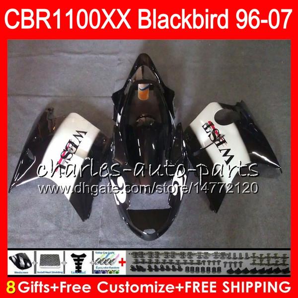 Body For HONDA Blackbird CBR1100 XX Black west CBR1100XX 02 03 04 05 06 07 81NO49 CBR 1100 XX 1100XX 2002 2003 2004 2005 2006 2007 Fairing