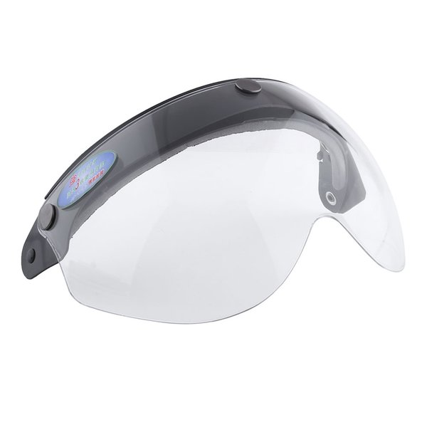 Wholesale- Clear Pilot-Style Motorcycle Helmet 3-Snap Face Visor lens Shield Sunshade Protective Gears