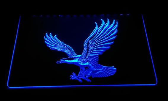 top popular LS3000-b Eagle Neon Light Sign Decor Free Shipping Dropshipping Wholesale 6 colors to choose 2019