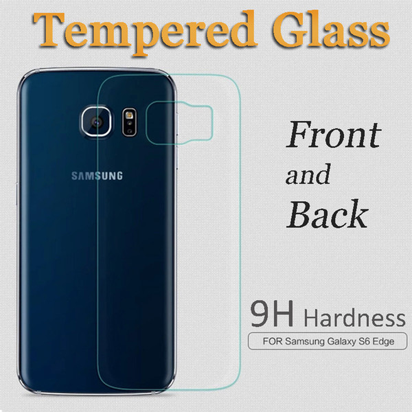 Tempered Glass Screen Protector Front and Back For Samsung Galaxy S6 Edge Sony Z2 Z3 Z4 Z5 Mini 0.2MM 9H 2.5D