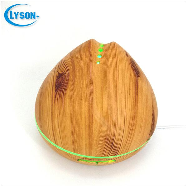 Wood Grain 300Ml Plastic With Led Mini Essential Oil Aromatic Diffuser 3 Mode Timer Air Fresh Mist Humidifier