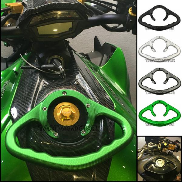 Pasamanos del tanque delantero de la motocicleta Pasamanos del asiento trasero Resistencia pasamanos Pasajero Manija de seguridad para Kawasaki Z1000 Z800 Z750 ZX6R