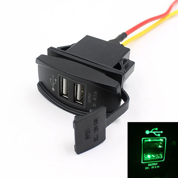 Wholesale- 2016 New Universal Car Truck Boat Accessory 12V 24V 3.1A Dual USB Charger Power Adapter LED Outlet Free Shipping