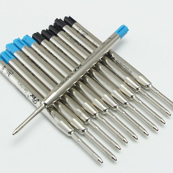 Venta caliente-10 piezas de buena calidad negro / azul tinta MB alta calidad bolígrafo recarga de tinta de la venta caliente