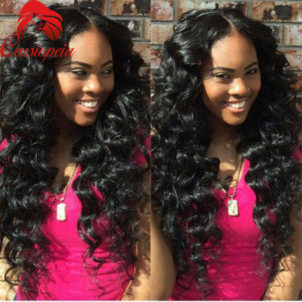 Deep Wave Full Lace Wig For Black Women Middle Part Lace Front Wigs With Baby Hair Glueless 8A Grade Brazilian Hair Free Shipping