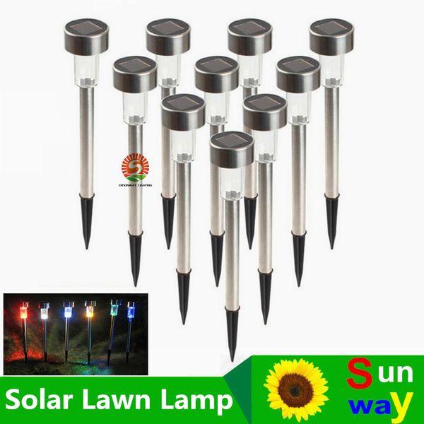 top popular Best Solar Lamps Solar LED Light Multicolor Stainless Steel Solar Lawn Lights Led Garden Light Decoration Outdoor Street Lamps Waterproof 2019