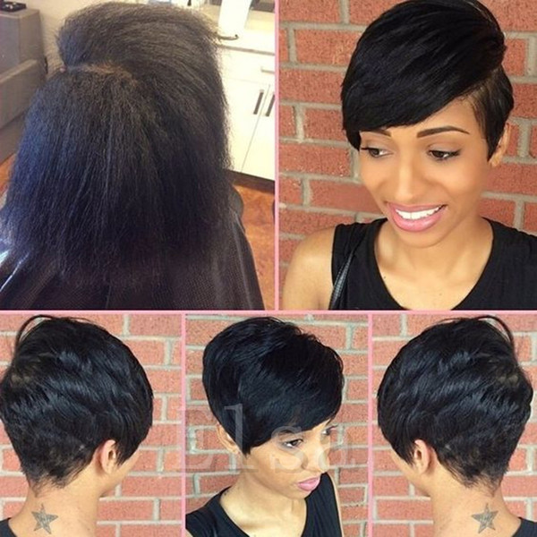 New Rihanna Bob Hair Style wigs Short Human Cut hair Lace Front Wig For Black Women Human Short Hair Wigs for African Americans