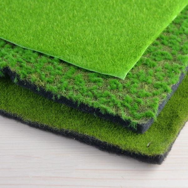 Turf New Creative Micro Landscape Fake Moss Emulation Lawn Grass Garden Stakes Micro Landscape Decoration 1*1m Vase 36