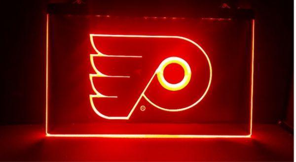 Philadelphia Flyers Beer Bar Pub Club 3d Signs Led Neon Light Sign Home Decor Crafts