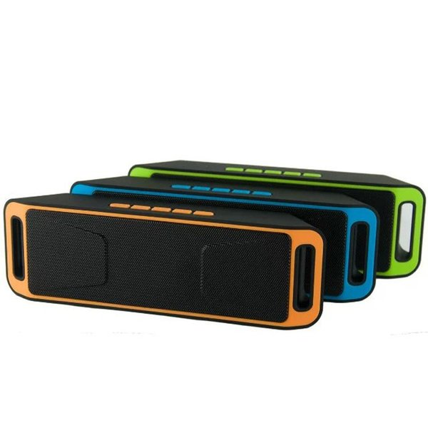 Free DHL SC-208 Mini Portable A2DP Bluetooth Speaker Wireless Megabass Stereo Car Handsfree Call Subwoofer TF USB FM Radio Music MP3 Player