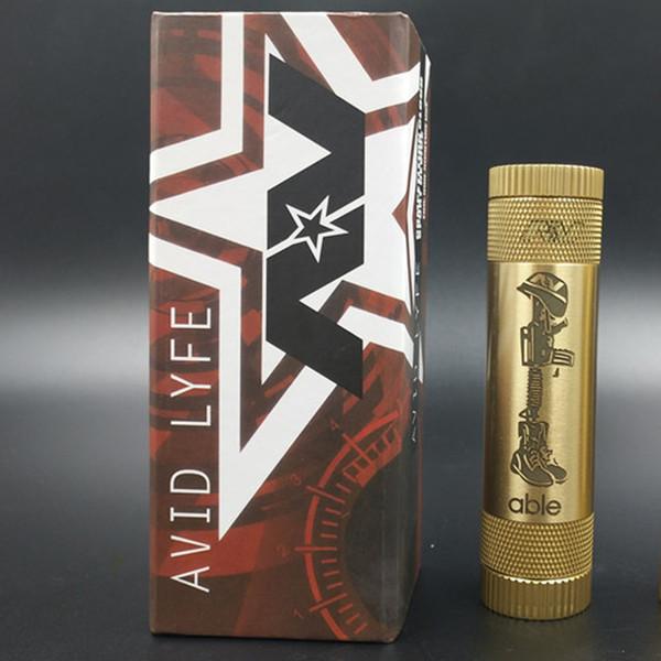 Able XL Soldier Mod AV Avid Lyfe Mechanical Mod Fit 18650 Batería Cigarrillo electrónico Material de latón DHL gratuito