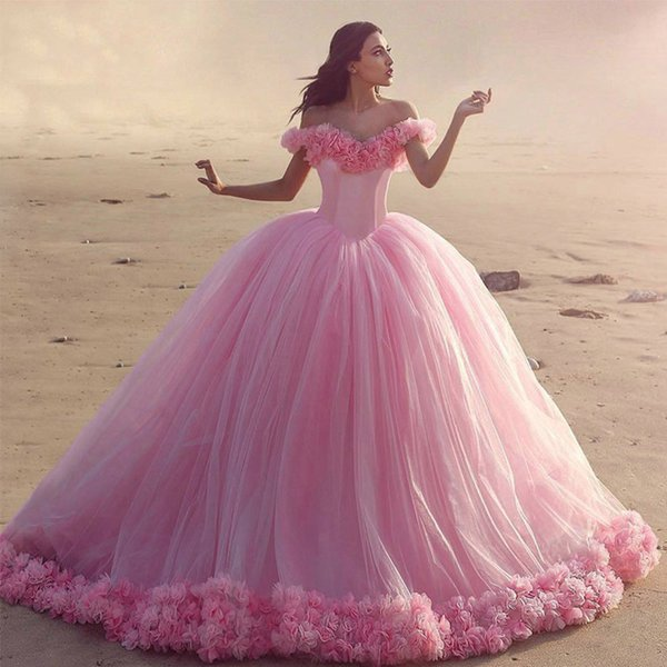 Pink Color Gowns