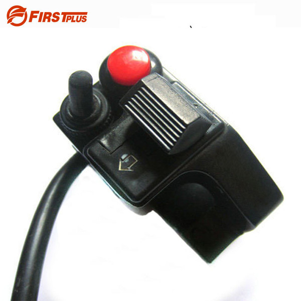 "7/8"" 22mm Aluminum Motorcycle ATV Dirt Handlebar Mount Push Button Horn Beam Winker Turn Switch For Honda YAMAHA BMW GS"